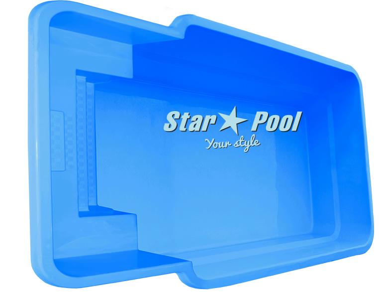 Чаша для бассейна STARPOOL Atalia 6,70x3,25x1,55 м