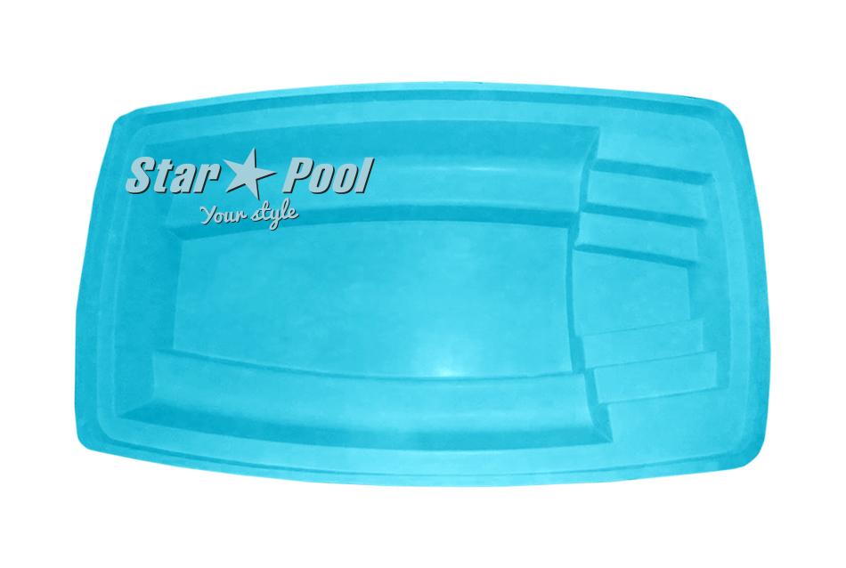 Чаша для бассейна STARPOOL Gocta 4,43x2,61x1,03 м