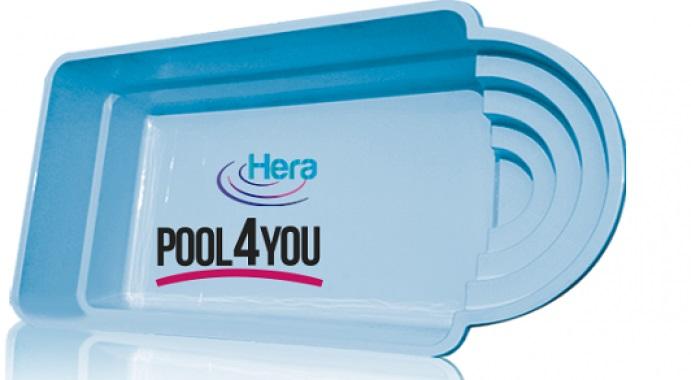 Чаша для бассейна POOL4YOU Hera 8,30x3,20x1,55 м