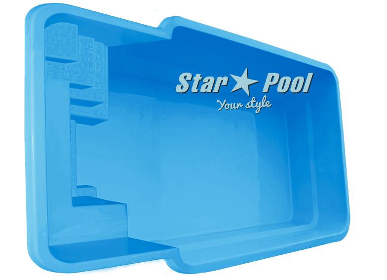 Чаша для бассейна STARPOOL Kile 7,40x3,25x1,20 м