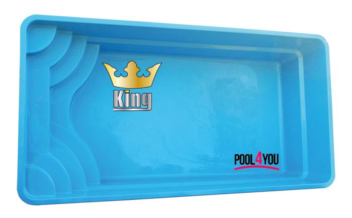 Чаша для бассейна POOL4YOU King 6,20x3,20x1,55 м