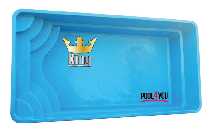 Чаша для бассейна POOL4YOU King 6,20x3,20x1,20 м
