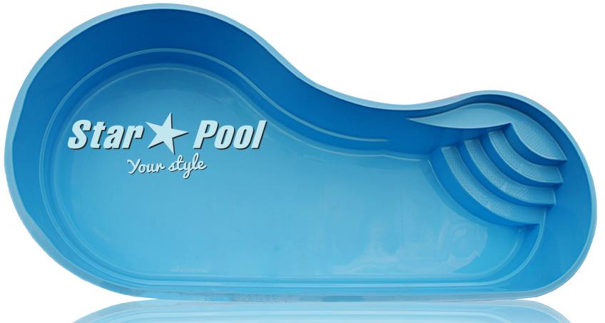 Чаша для бассейна STARPOOL Luna 7,40x3,45x1,45 м