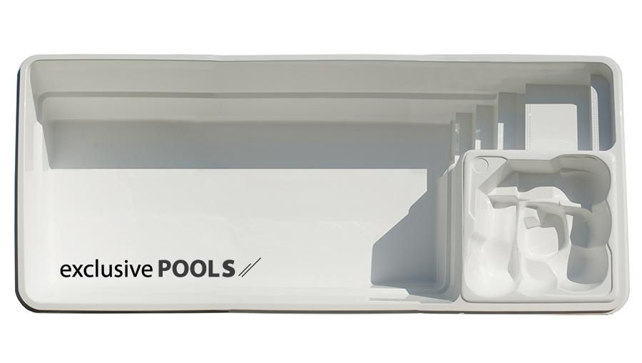 Чаша для бассейна Exclusive Pools Massive Pool 9,00x3,70x1,55 м