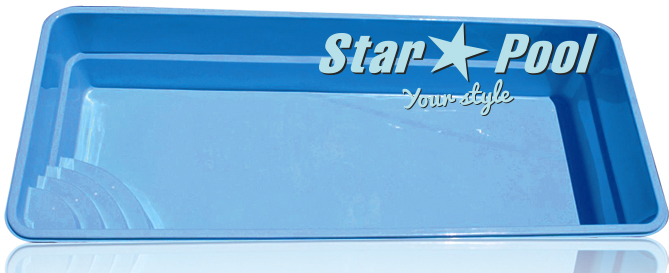Чаша для бассейна STARPOOL Ontario 8,25x3,25x1,55 м