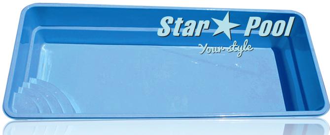 Чаша для бассейна STARPOOL Ontario 6,20x3,25x1,55 м
