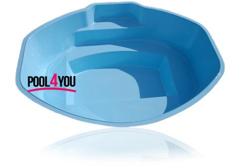 Чаша для бассейна POOL4YOU Ozzy 2,85x2,30х0,85 м