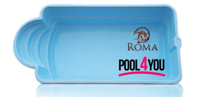 Чаша для бассейна POOL4YOU Roma 6,00x3,00x1,45 м