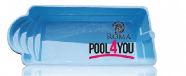 Чаша для бассейна POOL4YOU Roma 7,00x3,00x1,50 м