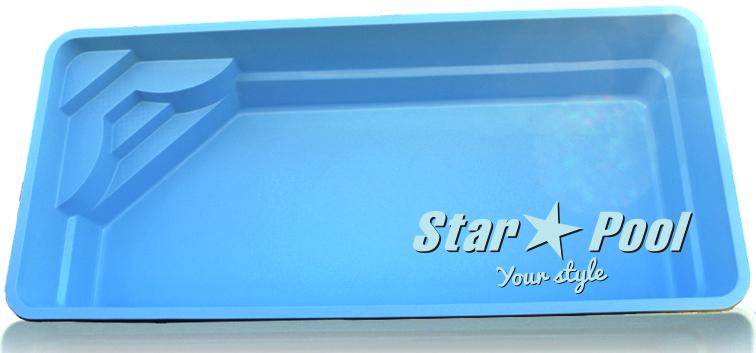 Чаша для бассейна STARPOOL Venus 7,00x3,25x1,55 м
